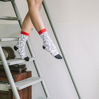 Corals style / socks - gray-red