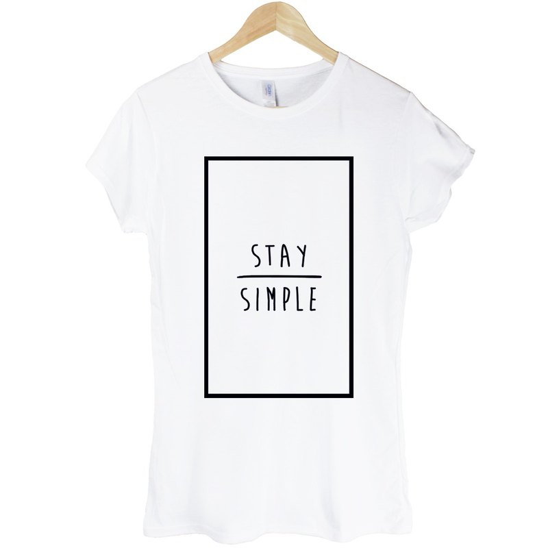 STAY SIMPLE-Rectangle girls T-shirt -2 color to keep it simple rectangular triangle geometric design own brand fashion round Wen Qing Hipster