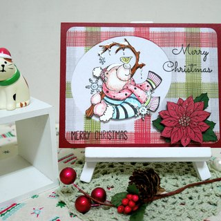 Christmas cards (greeting card) - handmade cards warm winter