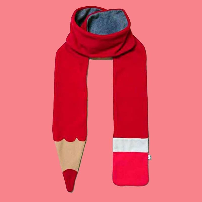 Mr.Wen Scarf (Winter limited) - Pencil Scarf (RED)