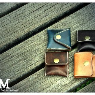 Small handmade leather purse
