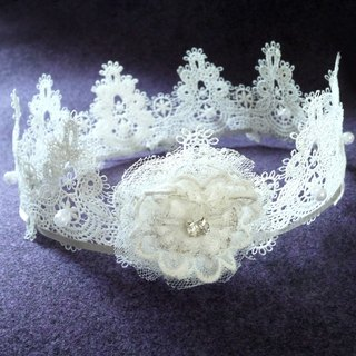 Lace flower girl crown