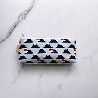 Handmade blue small white goose pattern pencil case