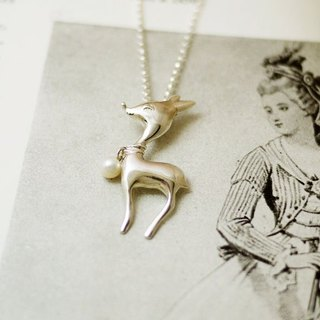 GT Deer Sterling Silver Necklace Deer