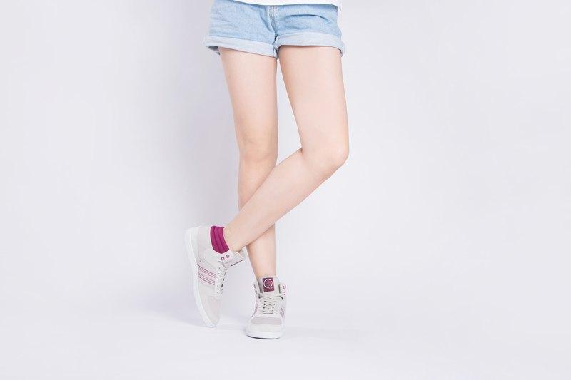 寶特瓶製休閒鞋  CEVENNES 高筒  紫紅色  女生款