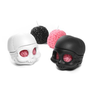 I Got Brain - Skully fragrance candle candlestick modeling group