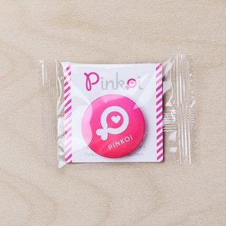 Pinkoi Fish Small Button Pin (Pink)