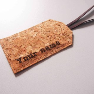 Paralife Personalized YOUR NAME's Cork Luggage Tag