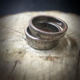 Dreamstation leather Pao Institute, the United States dollar coin ring 25 points, hippie, thunder, heavy machine