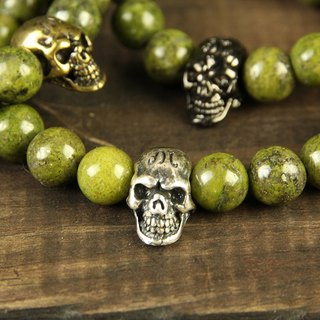 【METALIZE】Skulls 8MM Beaded Bracelet 骷髏8MM串珠手鍊