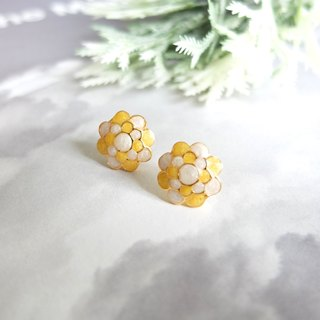 Glorikami Yellow Cauliflowers earrings