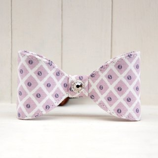 Pretty series - purple dot gingham bow hair bundle