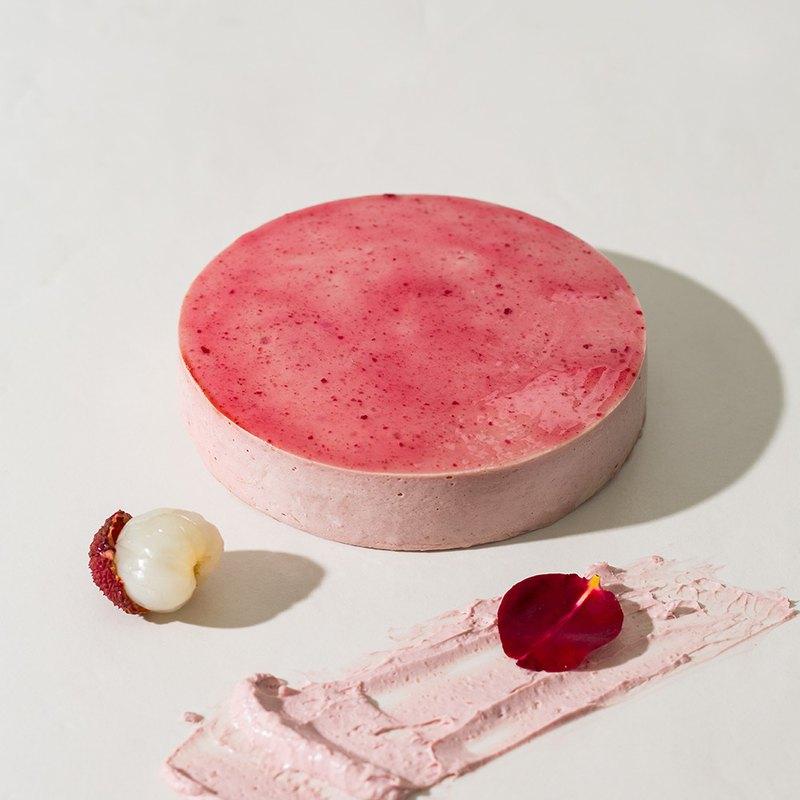 【1%bakery母親節蛋糕】玫瑰荔枝重乳酪蛋糕6吋