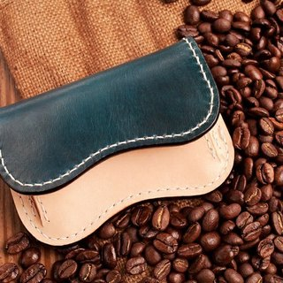Natural Vegetable Tanned Custom Leather Coin Purse / Navy Blue / Free Color Selection / Handmade