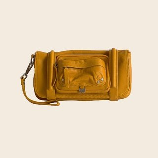 ► Marty C | Clutch bag ● mustard yellow / soft sheepskin Clutch
