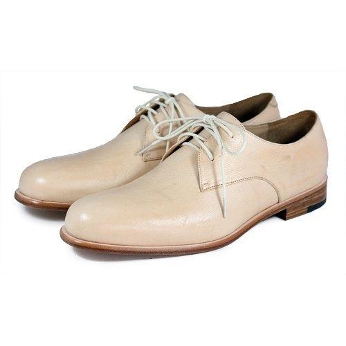 Sweet Villians M1125 手工真皮素面德比鞋 米白色