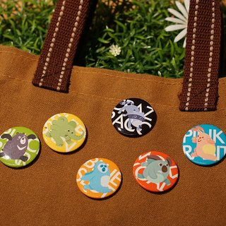 CHUMIO RUN Series: Illustration Badge Pin Set