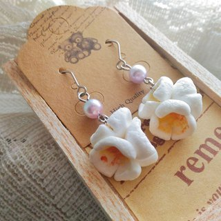 Mushroom mushroom】 sweet popcorn earrings