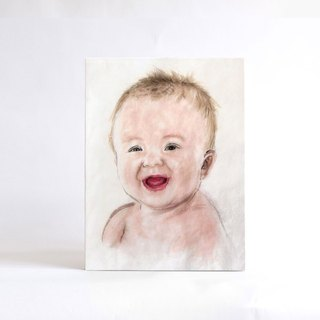 30cmx40cm Custom Portrait  with Easy Gallery Wrap, Child's Portrait, Children's Personalized Original Hand Drawn Portrait from Your Photo, OOAK watercolor Painting Ideas Gift