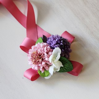 Wrist Flower [Simulation Flower Series] Cute Cosmos Flower (Purple)