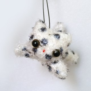 Flying Kitty Decoration / Charm - [black cat / little cats] (including lanyard & earphone plug)