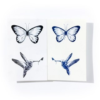 LAZY DUO Hummingbird Butterfly Summer Fake Bird Animal Temporary Tattoo Stickers