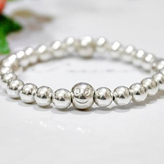 Silver Elastic Bracelet * Smile To ME * - Limited X1-