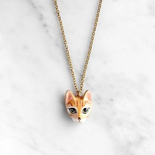 Chompoo Cat Necklace, Orange cat