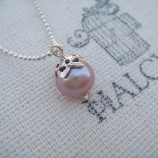 Purple Tear Drop Necklace