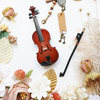 [fiddle] mini Violin mini simulation model charm packaging accessories custom texture gift