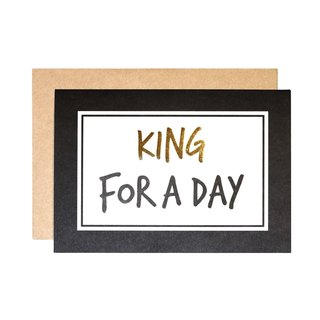 FOR YOU系列 幸福小卡 - KING FOR A DAY
