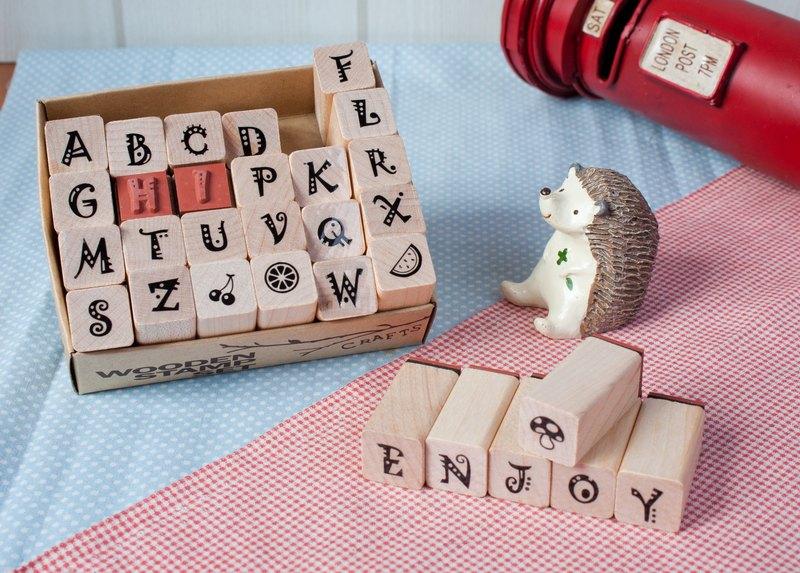 English Alphabet Stamp Set 17