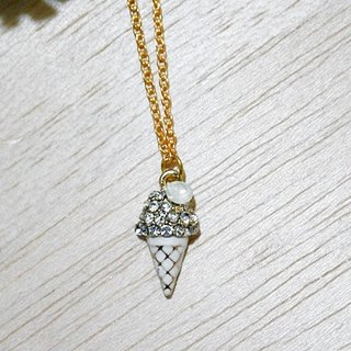 Alloy X Rhinestone Necklace <Summer Ice Cream>-Limited x1-