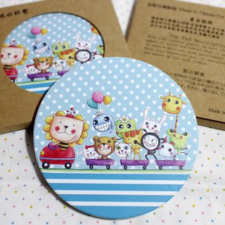 Ceramic water coaster _ (Happy Train)