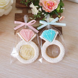 Pink diamond ring sugar cookies wedding small objects, exploration room ceremony, sister ceremony (10)