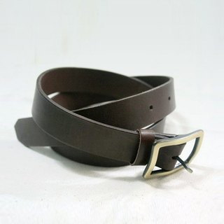 LION's Handmade Leathe -- Leather Belt  (Brown)