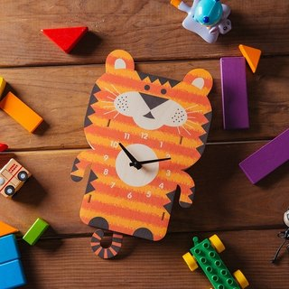 modern moose-3D clock-tiger pendulum clock