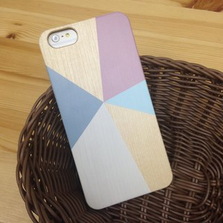 Geometric Colors - cr14 Real Wood iPhone Case for iPhone 6/6S, iPhone 6/6S Plus