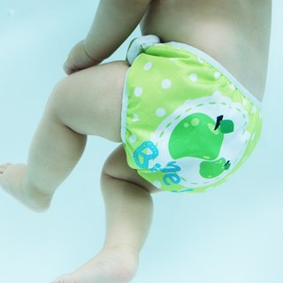 S1 Swimava green apple baby swim diapers -L