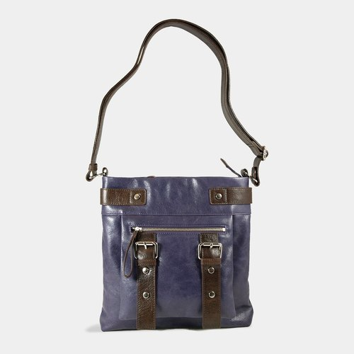 Influxx UN1 Leather Pouch / iPad Bag – Purple Reign