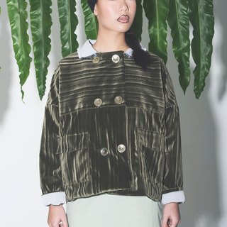 Dark green double button jacket