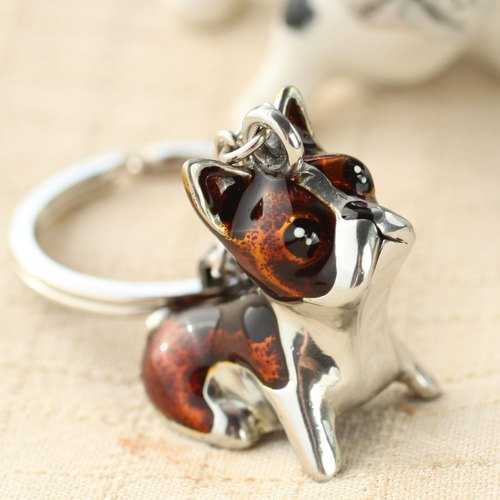 """Dear Deer"" French bulldog keychain enamel"