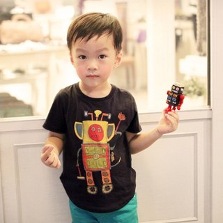 Children's cotton handmade t-shirt - childlike gift robot