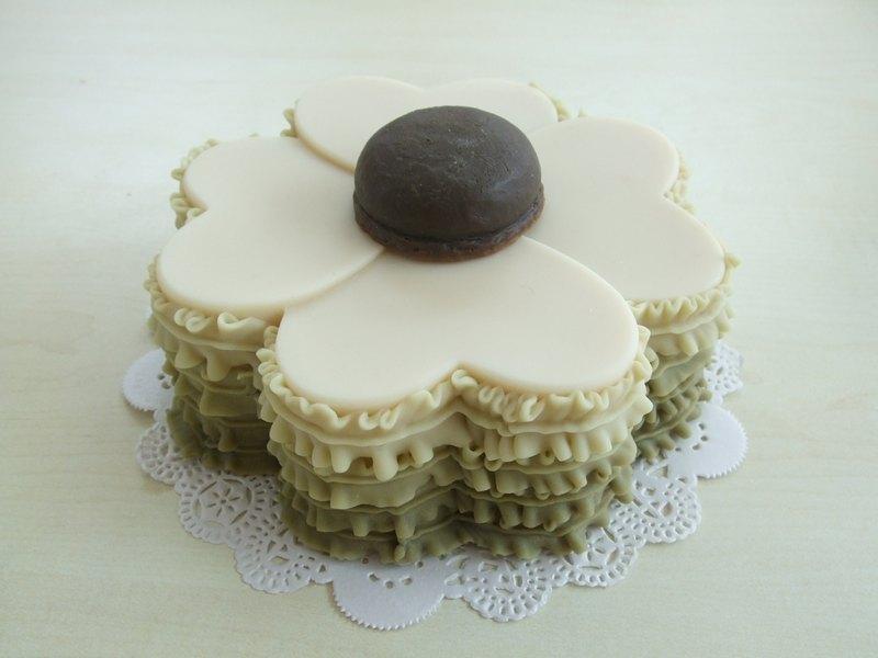 愛心幸運草蛋糕皂
