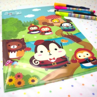 Squly & Friends A4 PP Folder (Little red riding hood) (D009SQS)
