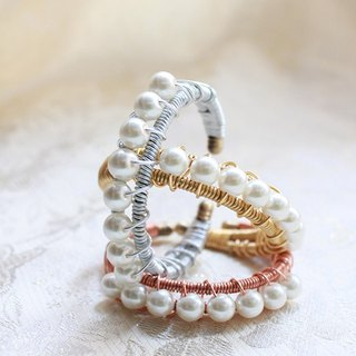 Simple Pearl Bangle - 3 Color