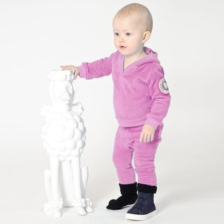 [Design] Nordic organic cotton infant posted leg pants pink _ red (6M-3Y) Shampoodle Sweden Kids