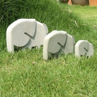 Greenology cement elephant bingo (set of three)