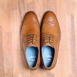 Vanger 優雅美型‧紳雅翼紋全雕花德比仕鞋║Va194褐
