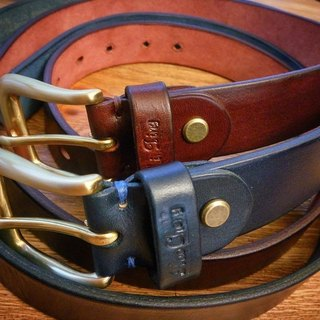 Vegetable tanned leather belt 3.5MM - both men and women (can be lettering)